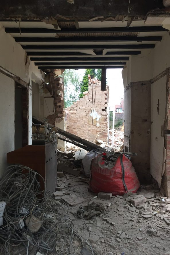 demolition is under way! - Annabelle Tugby Architects