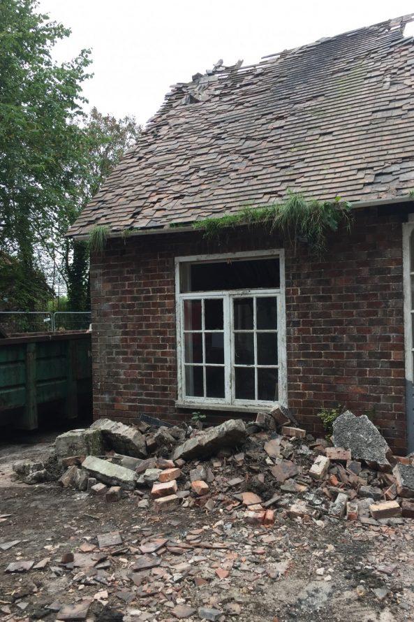 demolition is under way! - Annabelle Tugby